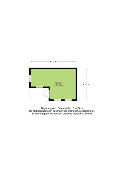 Schaapsdijk 10, Gilze plattegrond-