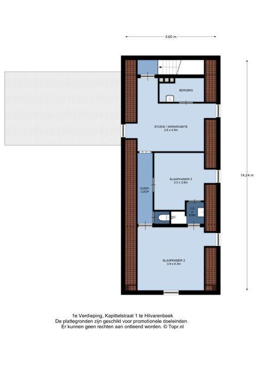 Kapittelstraat 1, Hilvarenbeek plattegrond-