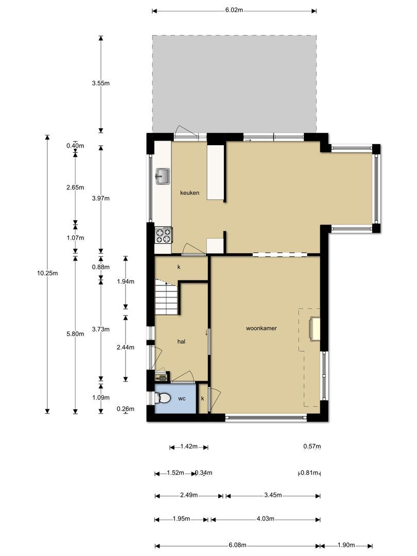Admiraal de Ruyterstraat 153 plattegrond-25