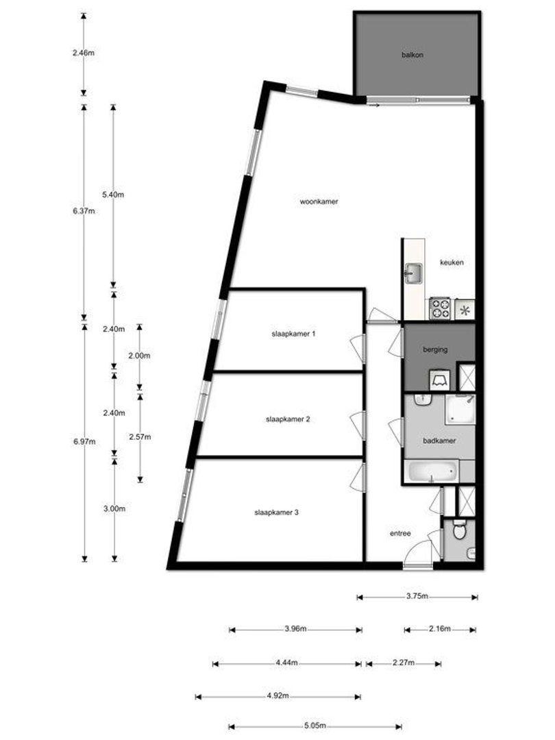 Oranjestraat 85 a plattegrond-37
