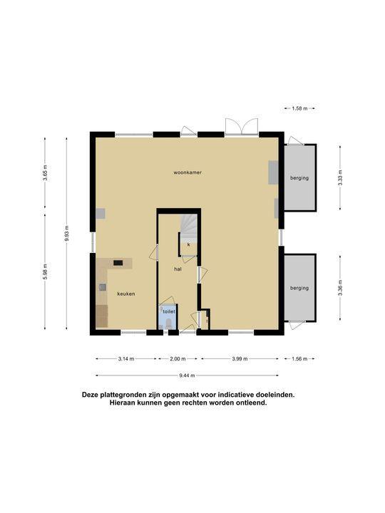 Baroniestraat 4, Oosterhout plattegrond-