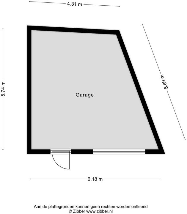 Swanegat 7, Leende plattegrond-