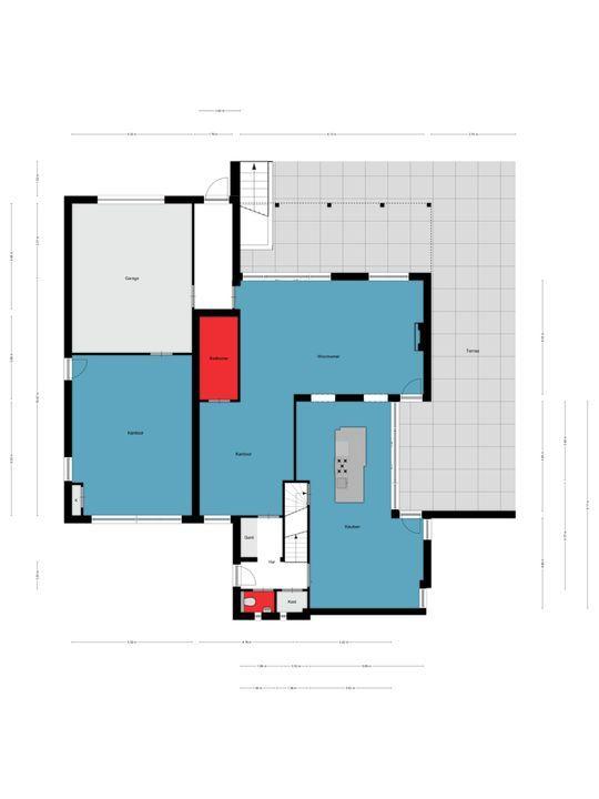 Pastoor van Winkelstraat 100, Schaijk plattegrond-
