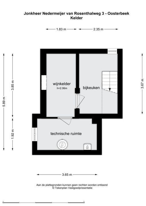 Jhr. Nedermeijer van Rosenthalweg 3, Oosterbeek plattegrond-