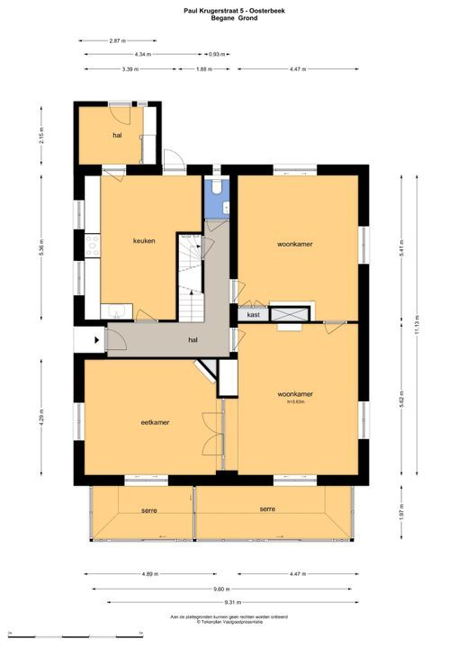 Paul Krugerstraat 5, Oosterbeek plattegrond-