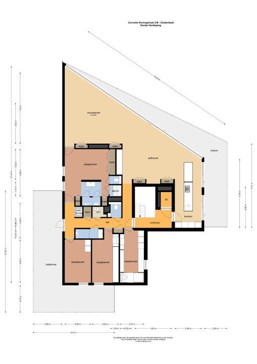 Cornelis Koningstraat 3 B, Oosterbeek plattegrond-