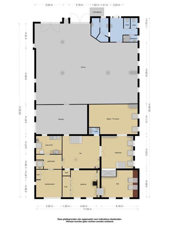 Spearsterdyk 2, Sibrandabuorren plattegrond-