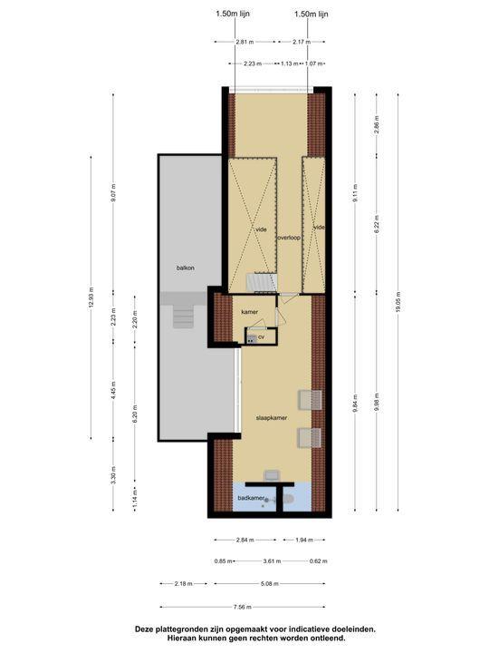 Flitsstraat 90 501, Sneek plattegrond-