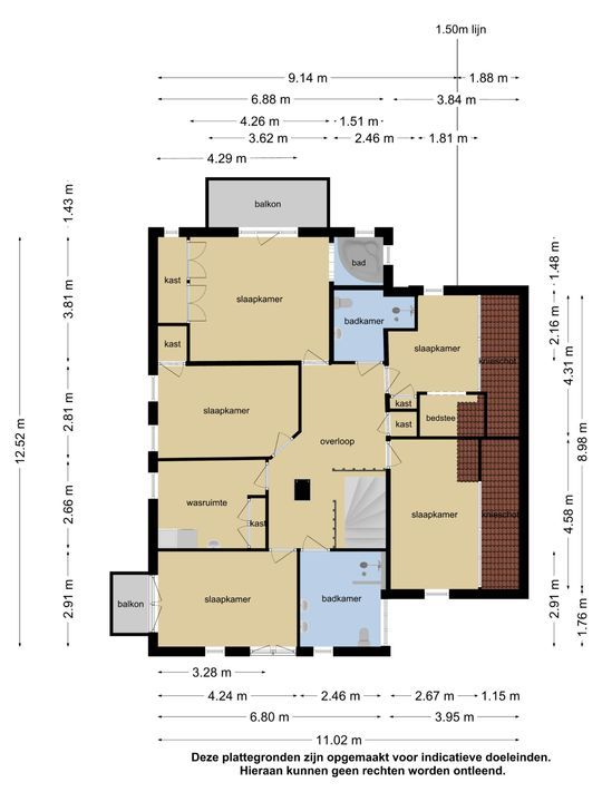 Koetshusleane 2, Woudsend plattegrond-