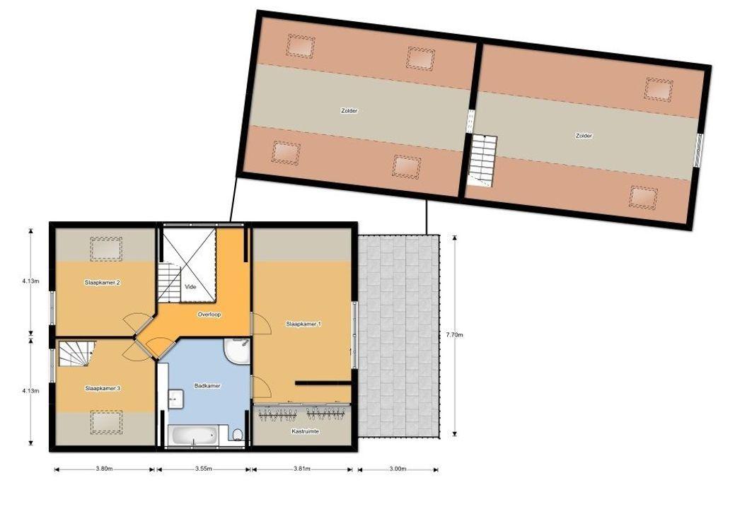 Zandstraat 33, Sint-Michielsgestel plattegrond-