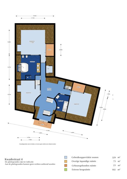 Kwadestraat 4, Etten-Leur plattegrond-