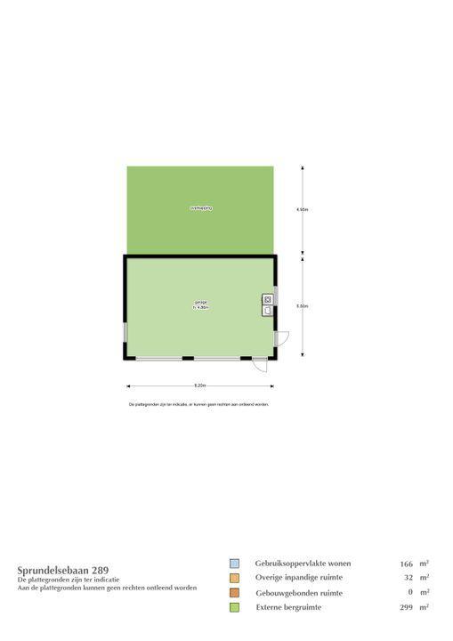 Sprundelsebaan 289, Etten-Leur plattegrond-