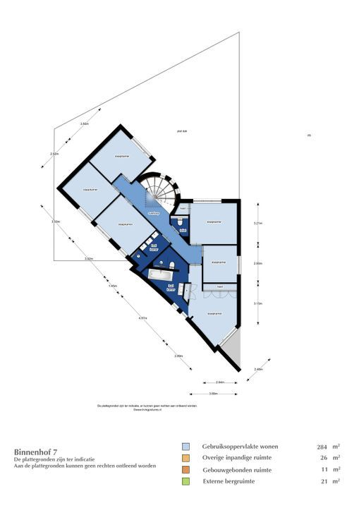 Binnenhof 7, Etten-Leur plattegrond-
