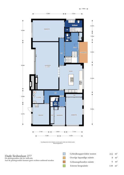 Oude Liesboslaan 277, Breda plattegrond-