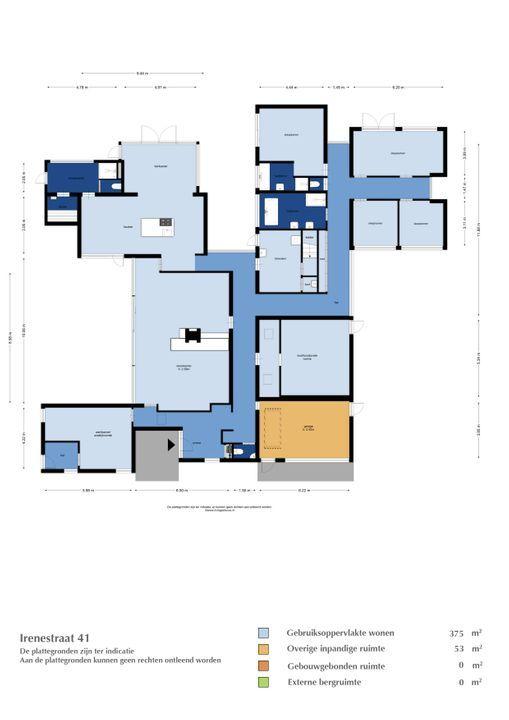 Irenestraat 41, St. Willebrord plattegrond-