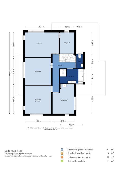 Landjuweel 85, Etten-Leur plattegrond-