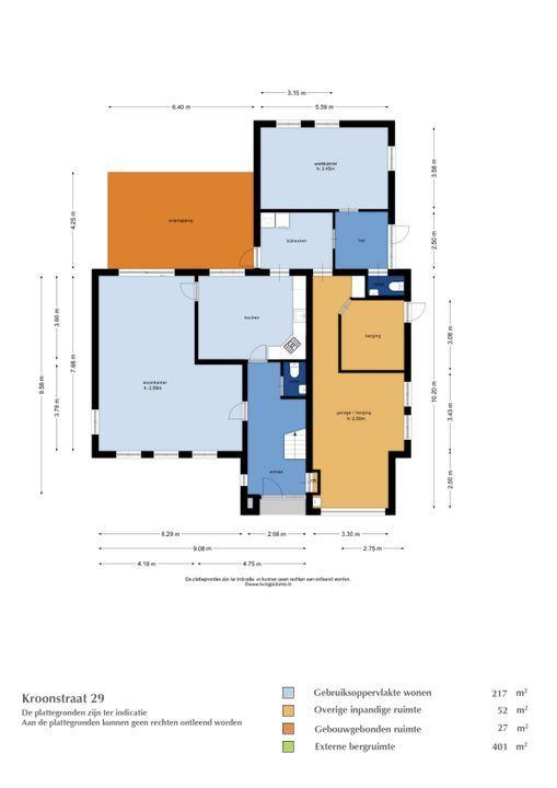 Kroonstraat 29, Etten-Leur plattegrond-