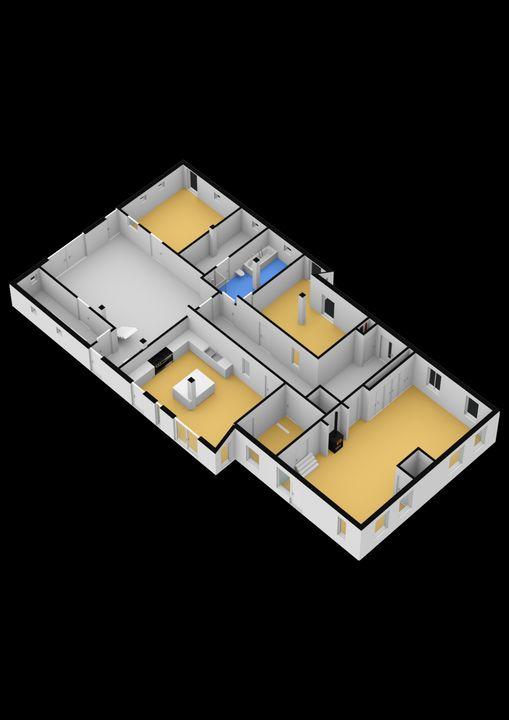 Zandhoeklaan 23, Westerbork plattegrond-