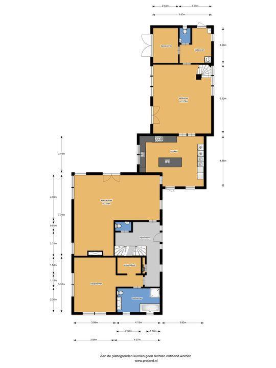 Dorpsstraat 18, Gasselte plattegrond-