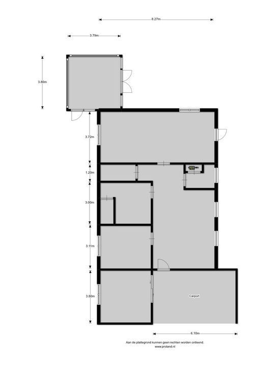 Mej. A.Talmaweg 16, Witteveen plattegrond-