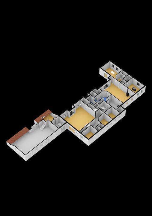 Zevenhoeksweg 6, Zwiggelte plattegrond-