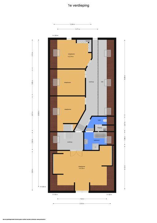 Hoofdstraat 21, Zwiggelte plattegrond-