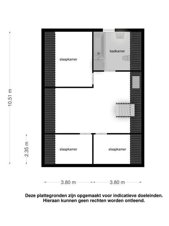 Zuideinde 8, Zevenhuizen plattegrond-