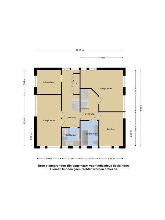 Dorpsstraat 2 - 4, Nieuwerkerk A/d Ijssel plattegrond-