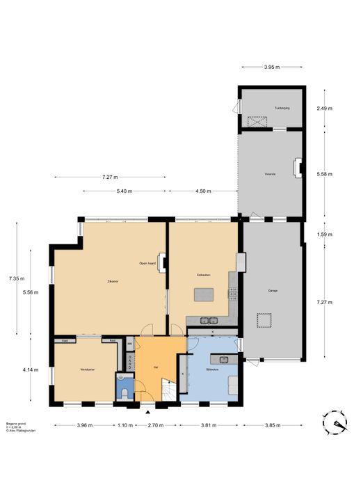 Zuideinde 1, Zevenhuizen plattegrond-