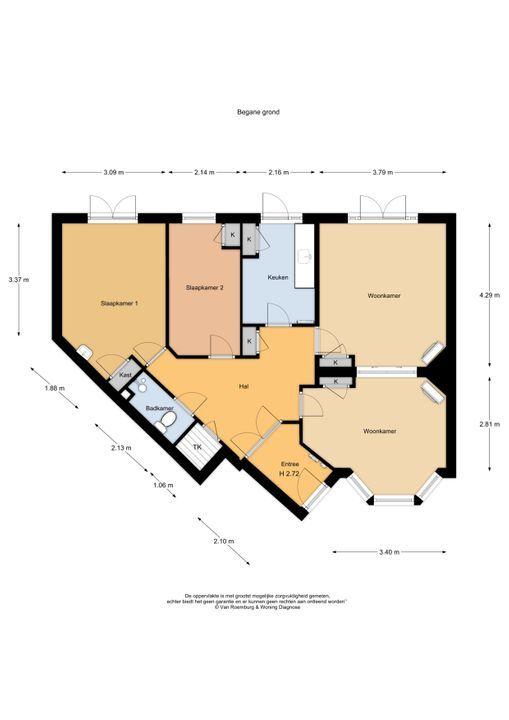 Voorduinstraat 47 zwart, Haarlem plattegrond-18