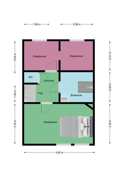 Thorbeckelaan 189, Den Haag plattegrond-37