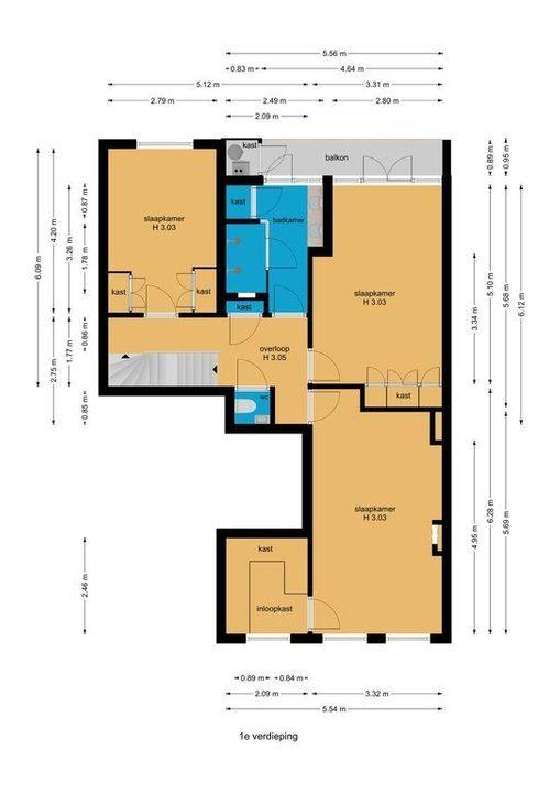 Blois van Treslongstraat 9, Den Haag plattegrond-64