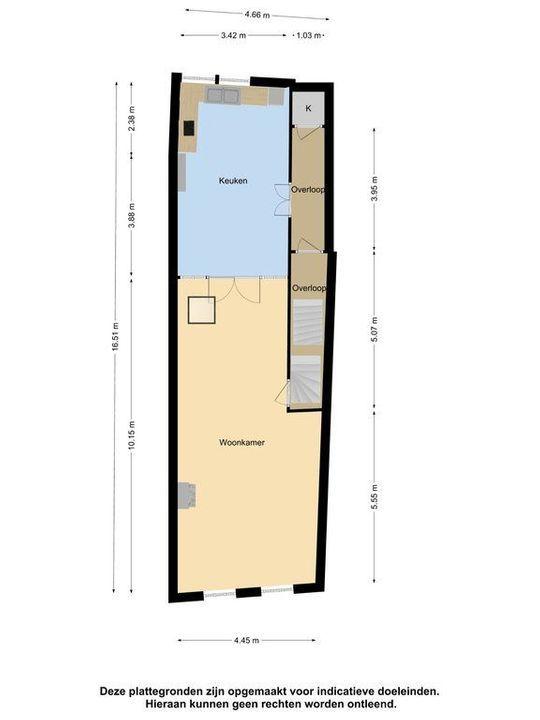 Breestraat 83 a, Leiden plattegrond-32