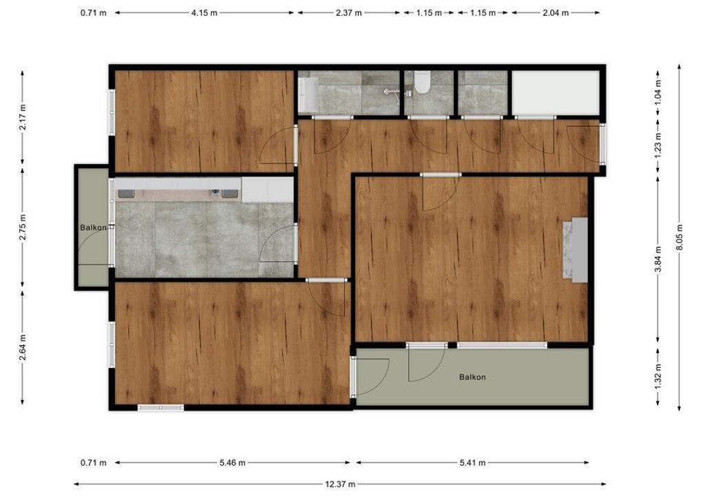 Weststraat 1 b, Den Haag plattegrond-28