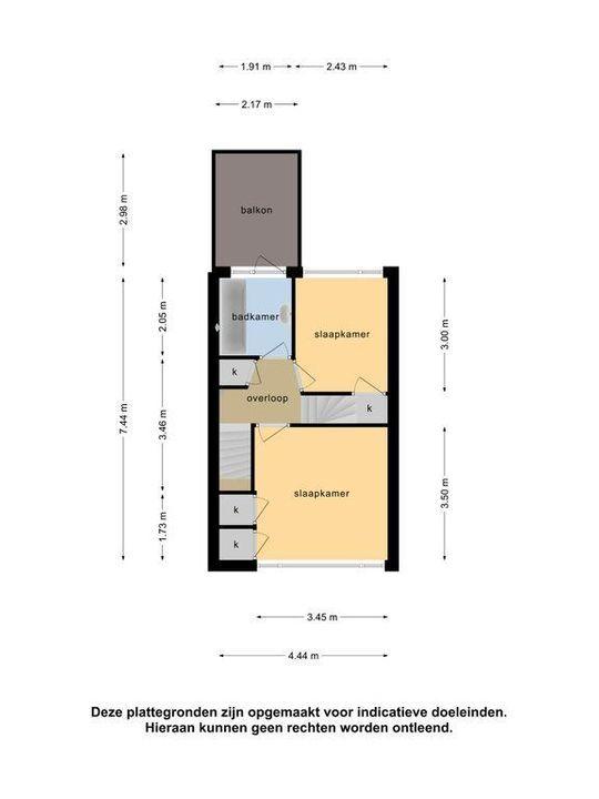 Hugo de Vriesstraat 65, Leiden plattegrond-50