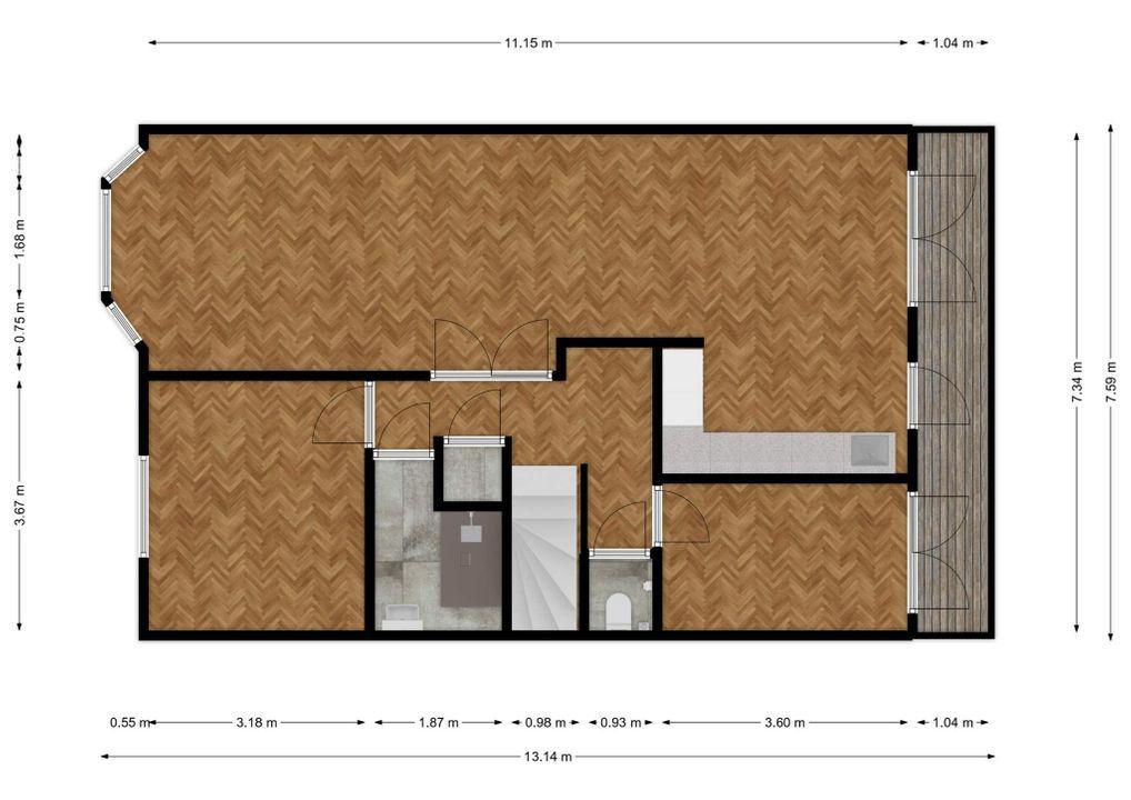Cornelis van der Lijnstraat 167 -B, Den Haag plattegrond-18