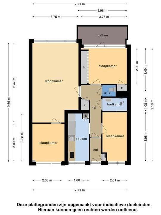 Kennedylaan 75, Leiden plattegrond-42