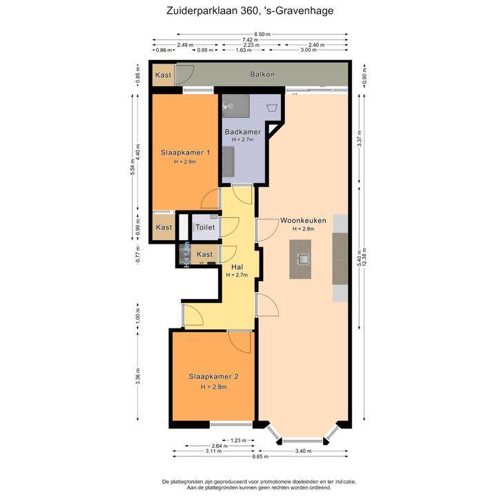 Zuiderparklaan 360, Den Haag plattegrond-25