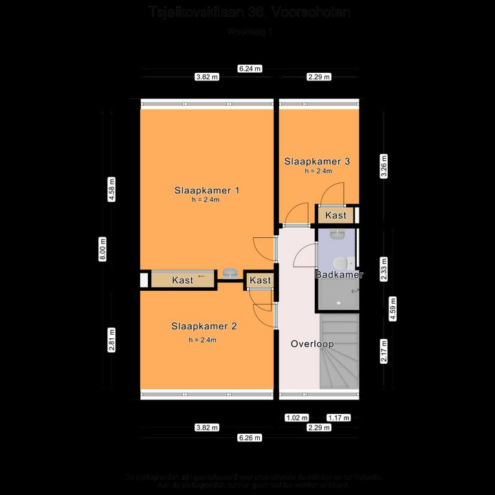 Tsjaikovskilaan 36, Voorschoten plattegrond-26