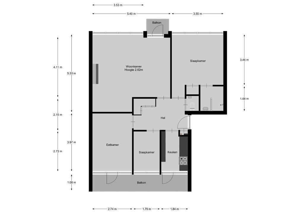 Willemslaan 1 F, Bussum plattegrond-22