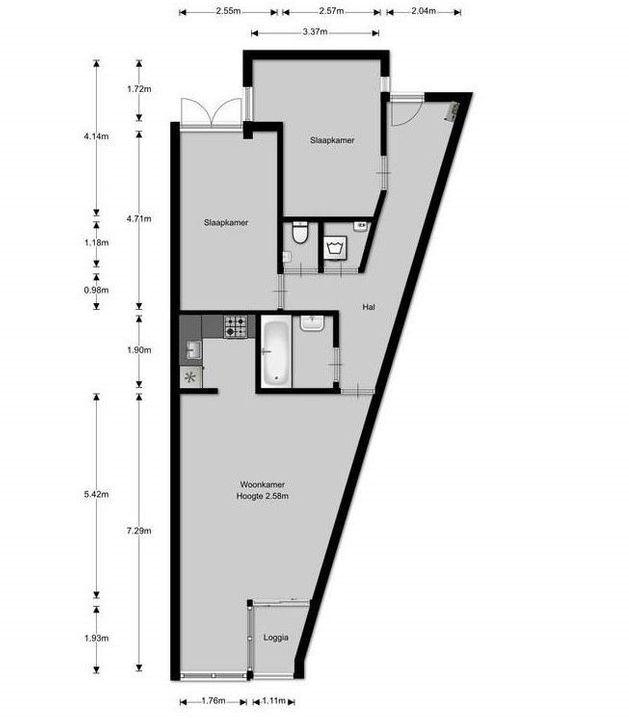 Koornstraat 21, Hilversum plattegrond-14