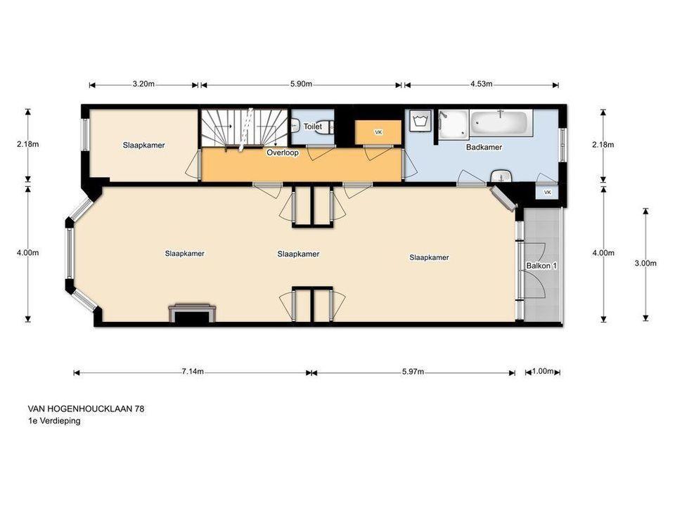 Van Hogenhoucklaan 78, Den Haag plattegrond-26