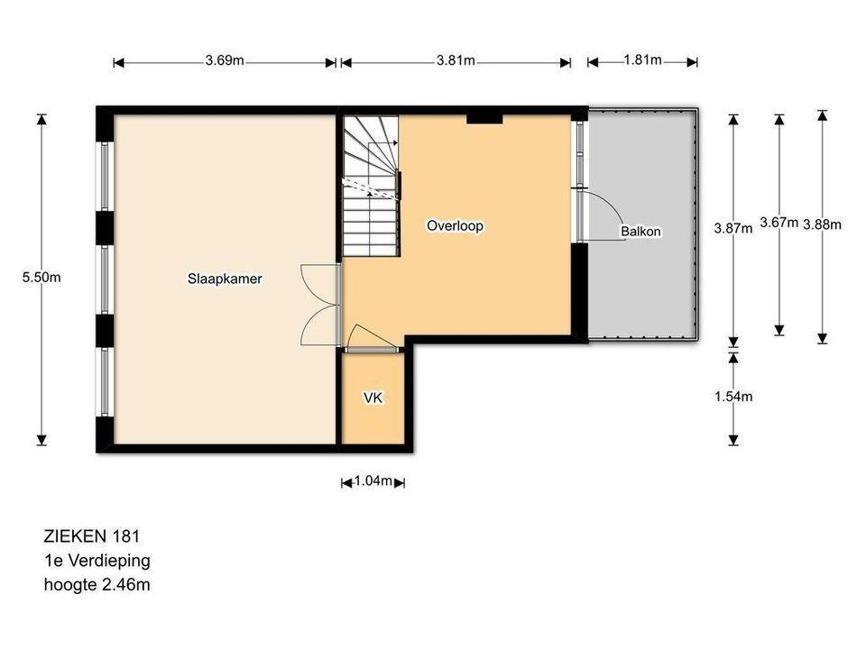 Zieken 181, Den Haag plattegrond-14