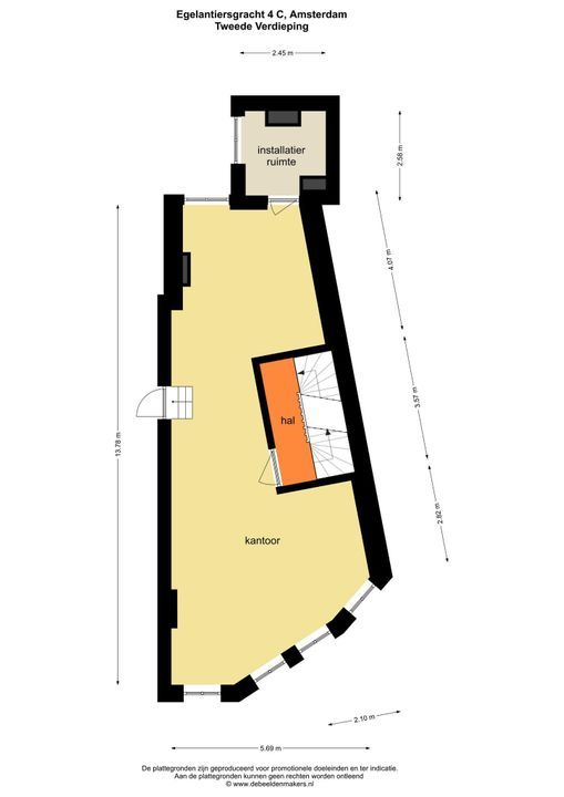 Prinsengracht 108 B, Amsterdam plattegrond-17
