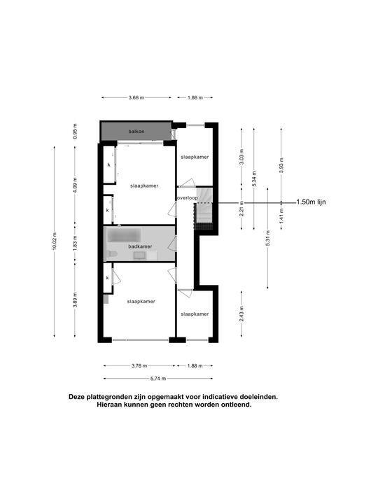 Burgemeester Knappertlaan 263 A, Schiedam plattegrond-40