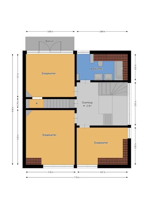 Nassaulaan 58, Hilversum plattegrond-32