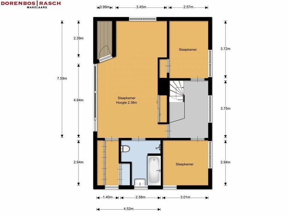Blesboklaan 2, Hilversum plattegrond-37
