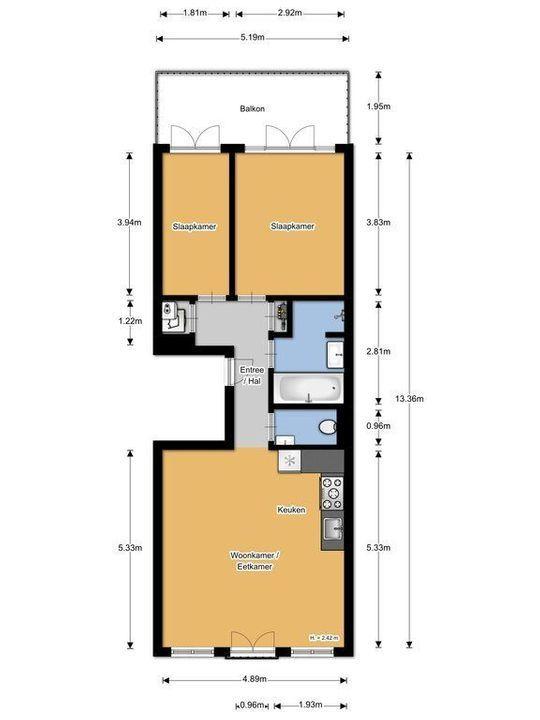 Tweede Oosterparkstraat 39 D, Amsterdam plattegrond-22