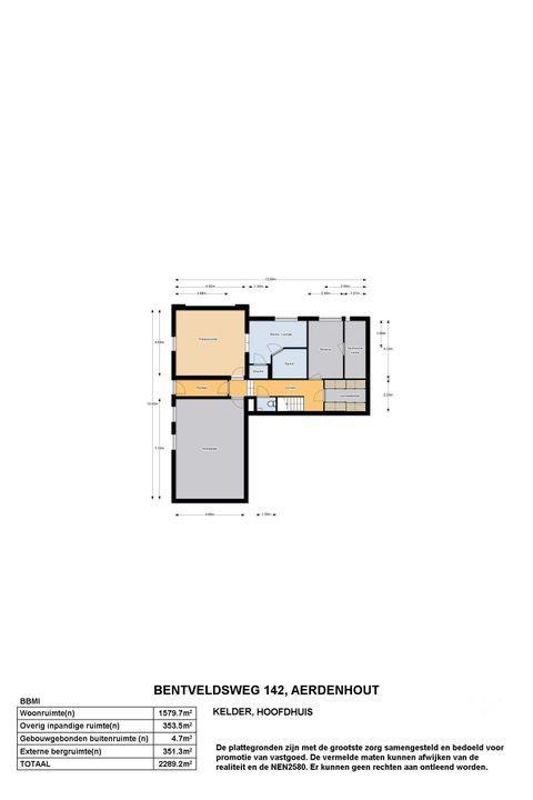 Bentveldsweg 140 142 144, Aerdenhout plattegrond-