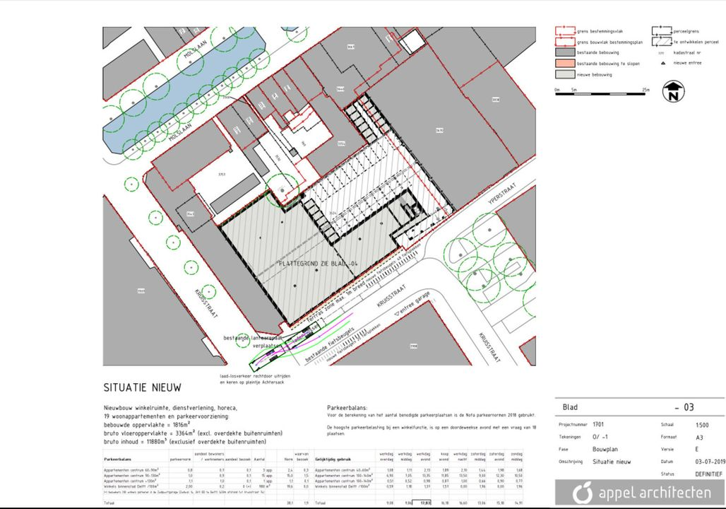 Kruisstraat, Delft plattegrond-5